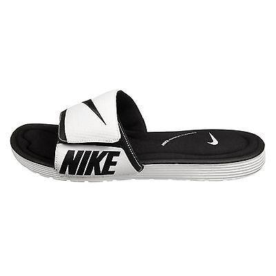 efa592568e2c Nike Solarsoft Comfort Slide Mens 705513-010 White Black Sandals Slides  Size 13