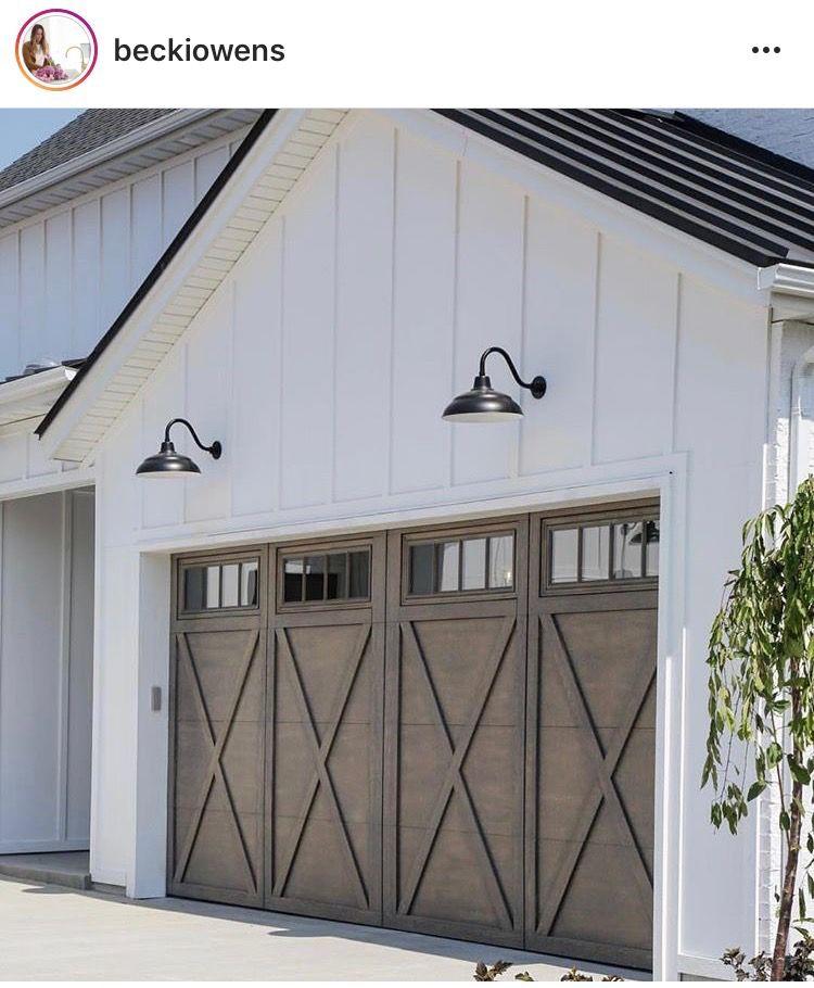 Garage Door Farmhouse Exterior Colors Modern Farmhouse Exterior