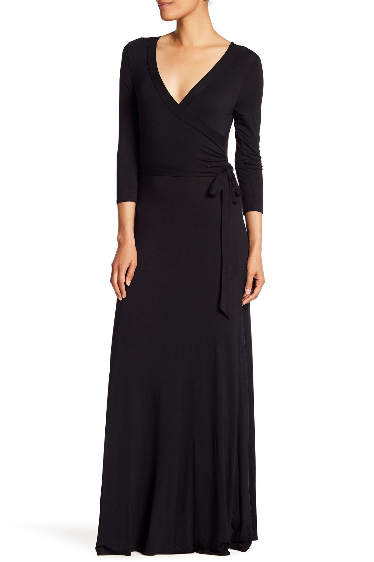 West Kei Solid Woven 3 4 Length Sleeve Dress Nordstrom Rack Dresses With Sleeves Dresses Maxi Dress [ 1800 x 1200 Pixel ]