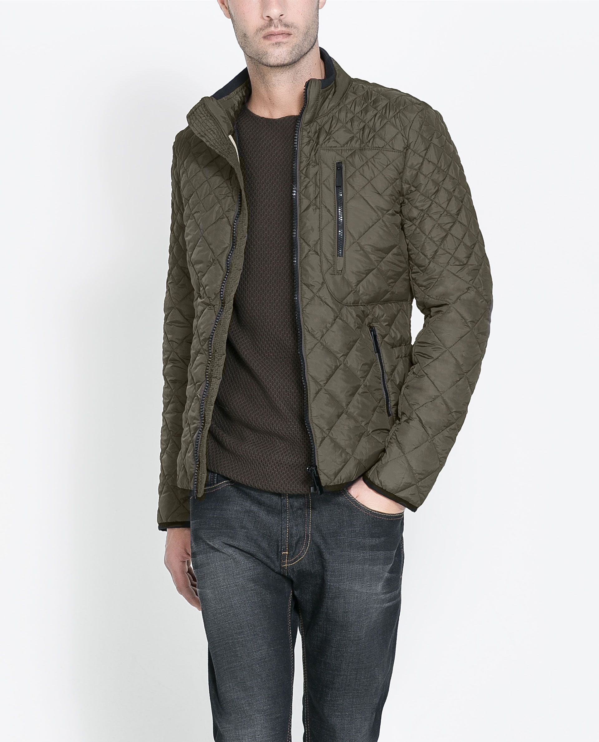 ZARA - MAN - QUILTED JACKET | Swagger | Pinterest | Zara man ...