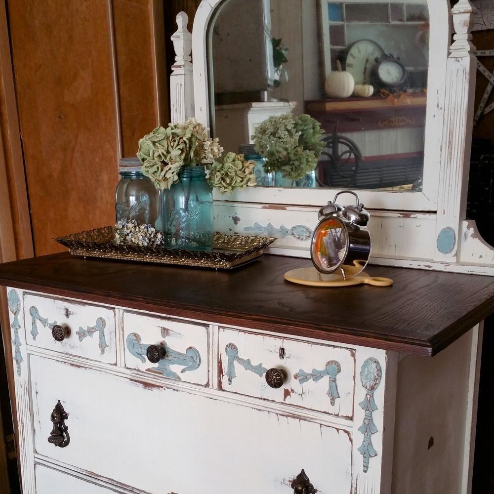 Vintage dresser found at estate sale.