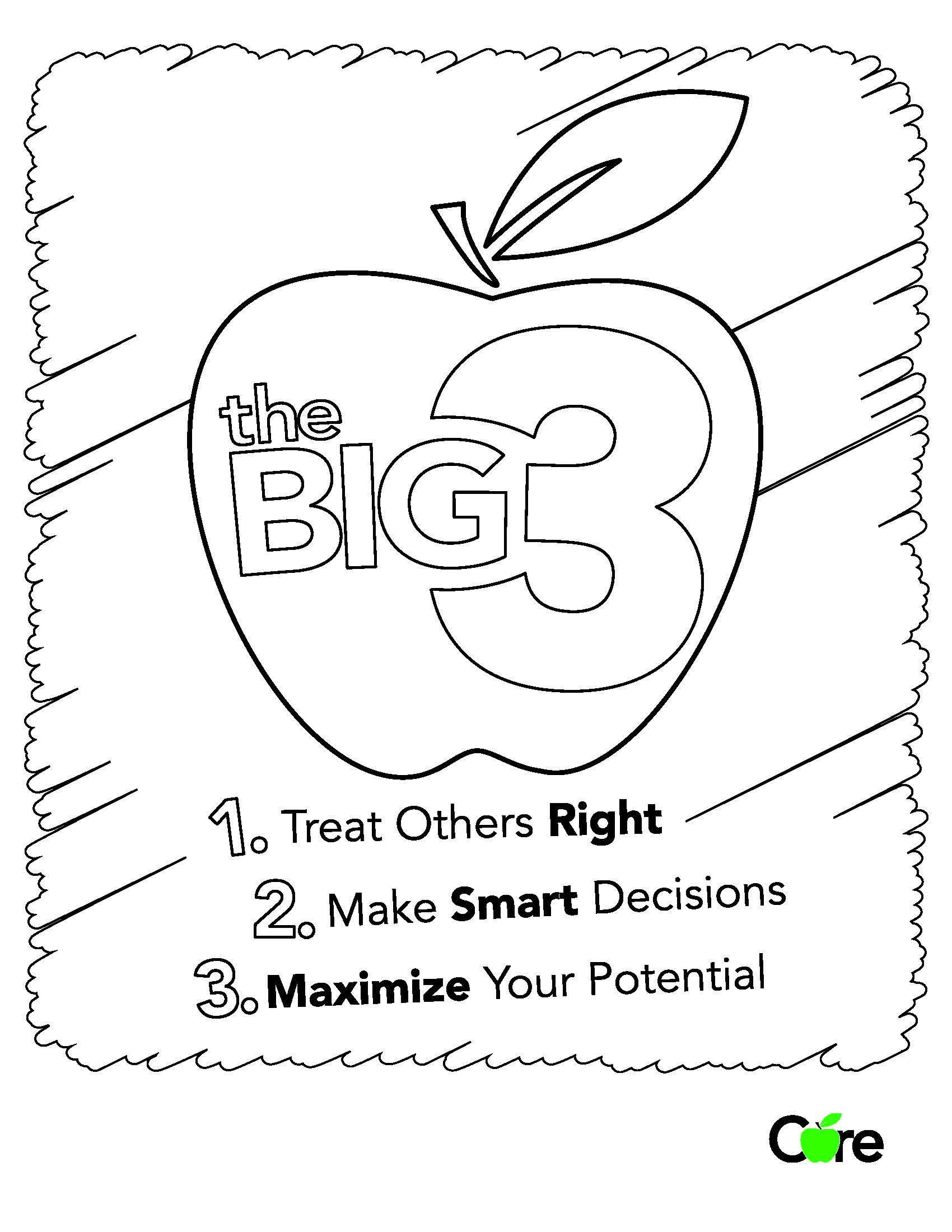 The Big 3 Coloring Sheet