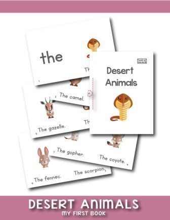 Free 10 Pages Printable Desert Animals Mini Book Will Help