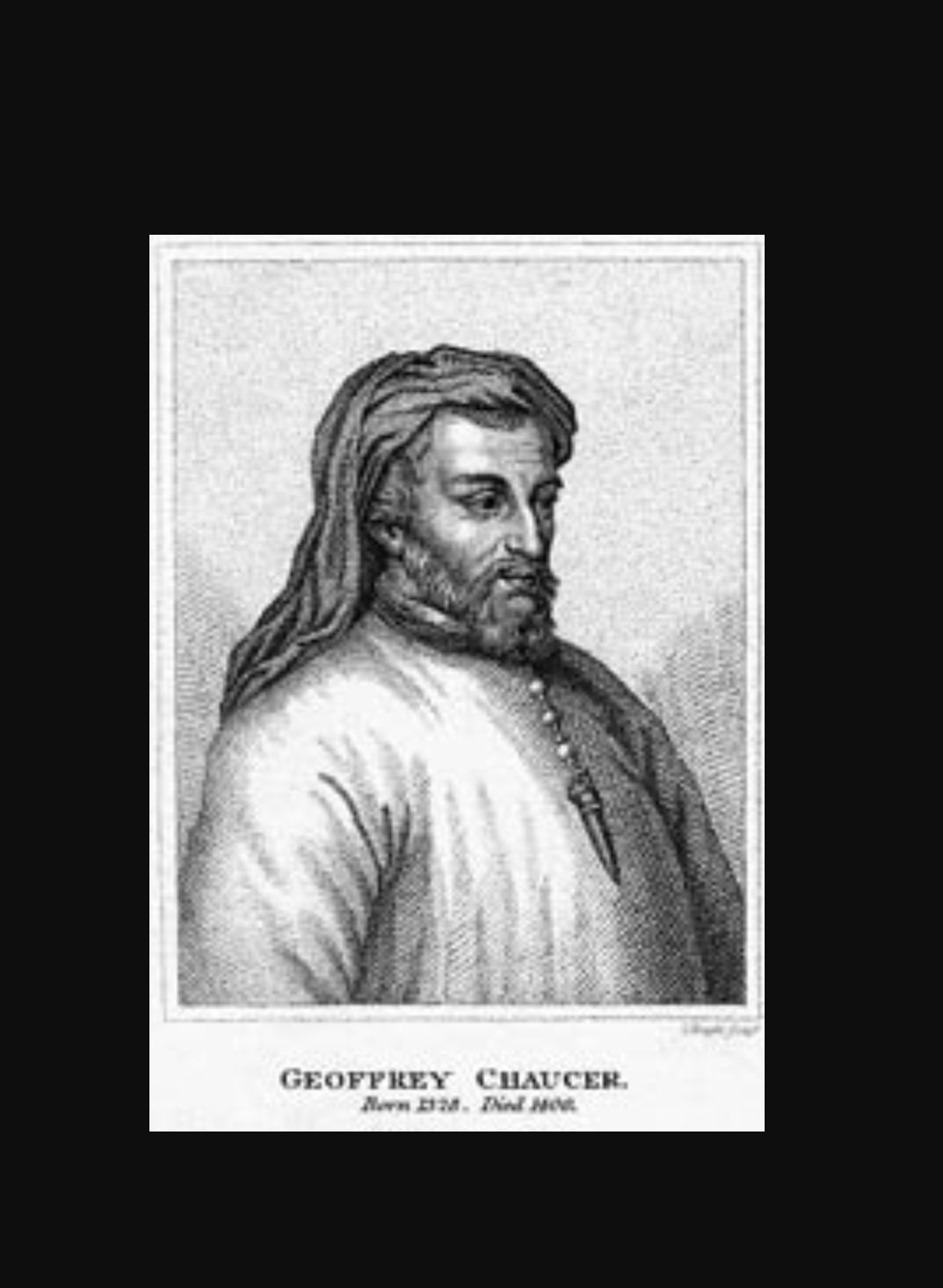 geoffrey chaucer is father of english poetry