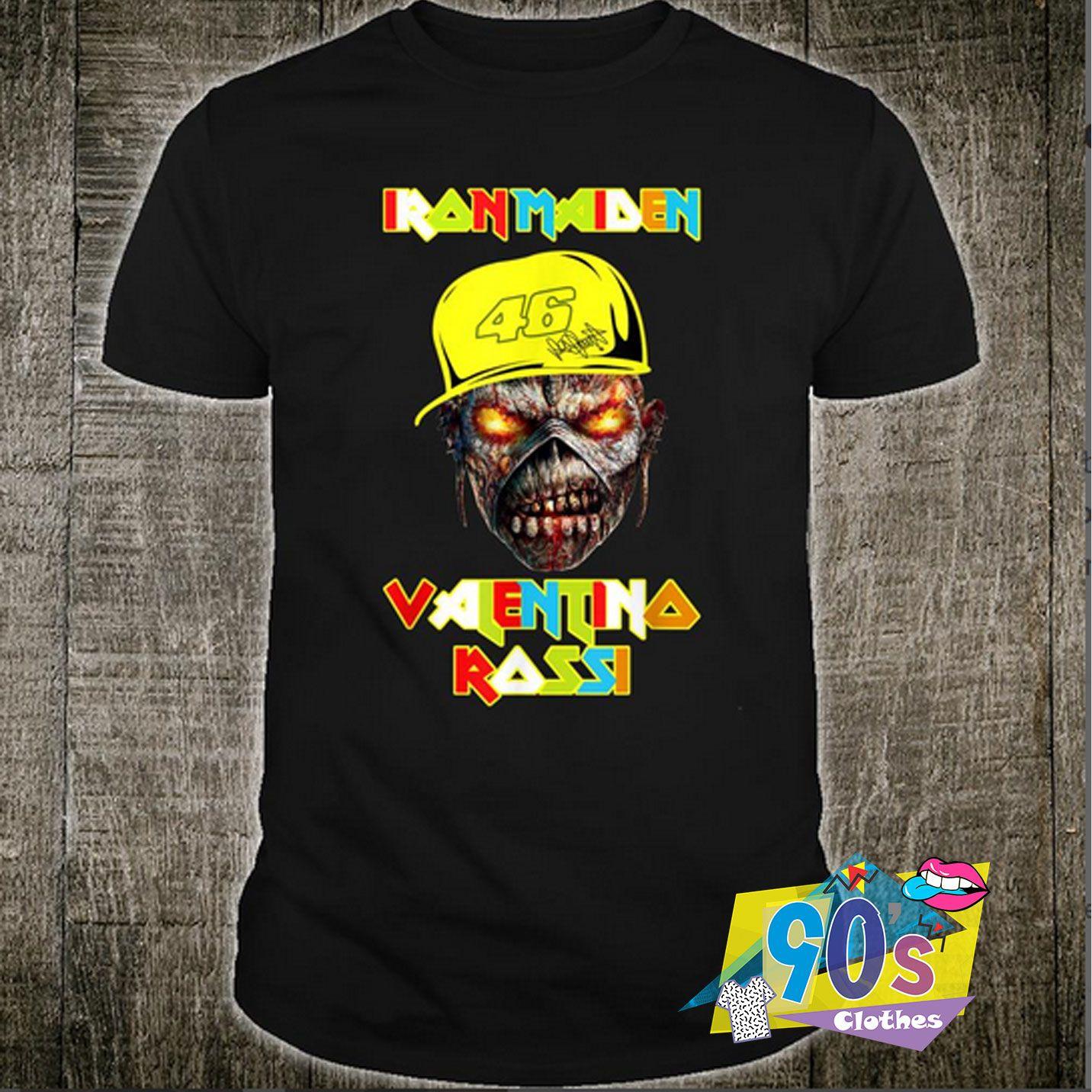 Iron Maiden Valentino Rossi Funny T Shirt #decadedayoutfits