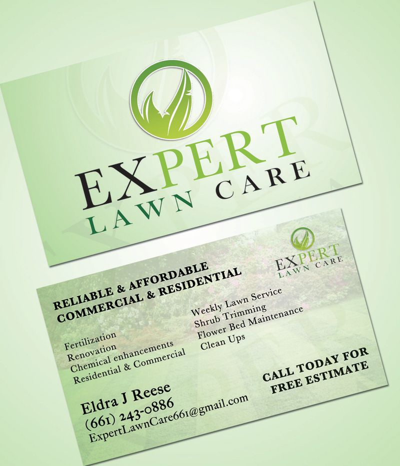 Professional lawn care business card google search for Professional landscaping service
