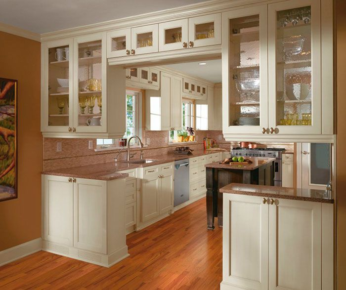Off White Cabinets Casual Kitchen Craft Cabinetry For