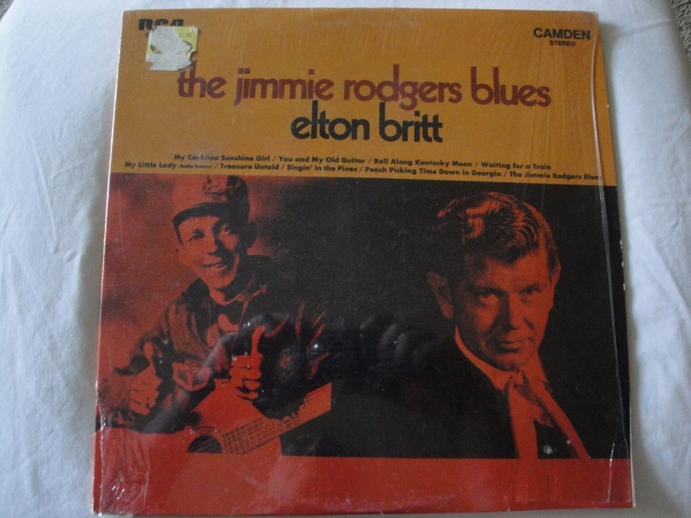 ELTON BRITT - Jimmie Rodgers Blues RCA CAMDEN 2295 (LP vinyl record) EX #CountryPopCountryRockEarlyCountryNashvilleSoundTraditionalCountryWesternSwing