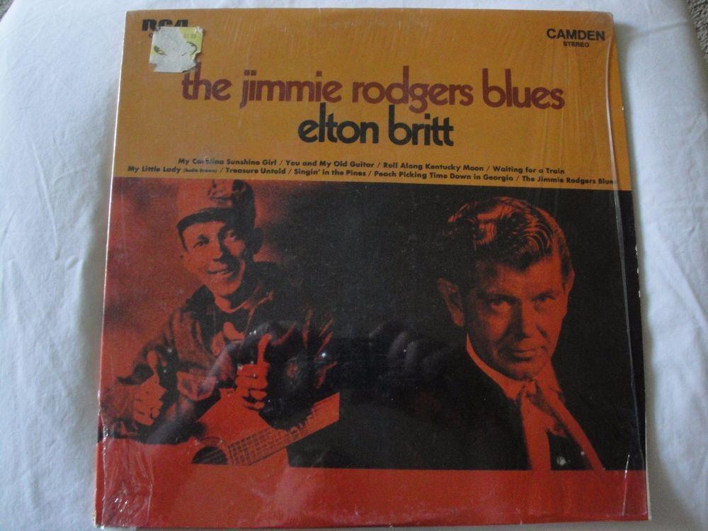 ELTON BRITT - Jimmie Rodgers Blues RCA CAMDEN 2295 (LP vinyl record) EX #CountryPopCountryRockEarlyCountryNashvilleSoundTraditionalCountryWesternSwing
