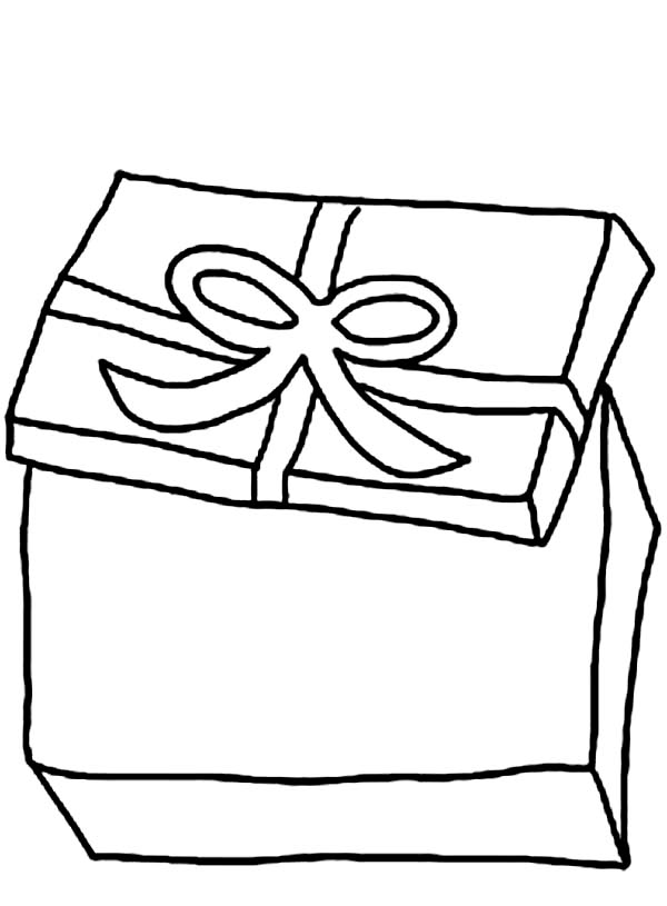 Opening Present Box Coloring Page Coloring Sun Coloring Pages Christmas Coloring Pages Color
