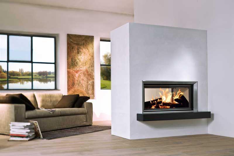 Kamin Zwischen Zwei Räumen | Kamin | Pinterest | Fire Places, Living Rooms  And Fireplace Mantles