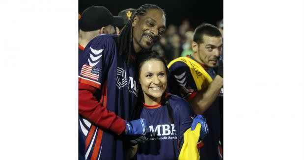 Snoop Dogg inspires kids, adults alike with his passion for football by http://www.k-12sports.com