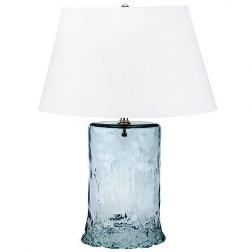 Recycled Glass Waterfall Lamps Vivaterra Blue Glass Lamp Blue Table Lamp Lamp