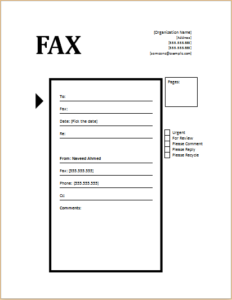 Fax Cover Sheet Technology Design Download At HttpWww