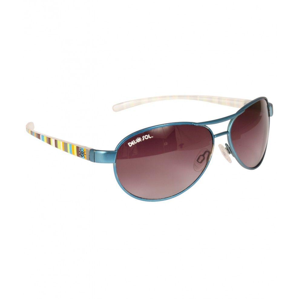 da2350c415 Del Sol Solize Sunglasses - Lonely Sea - Silver to Blue  49 I like the  yellow striped sides.