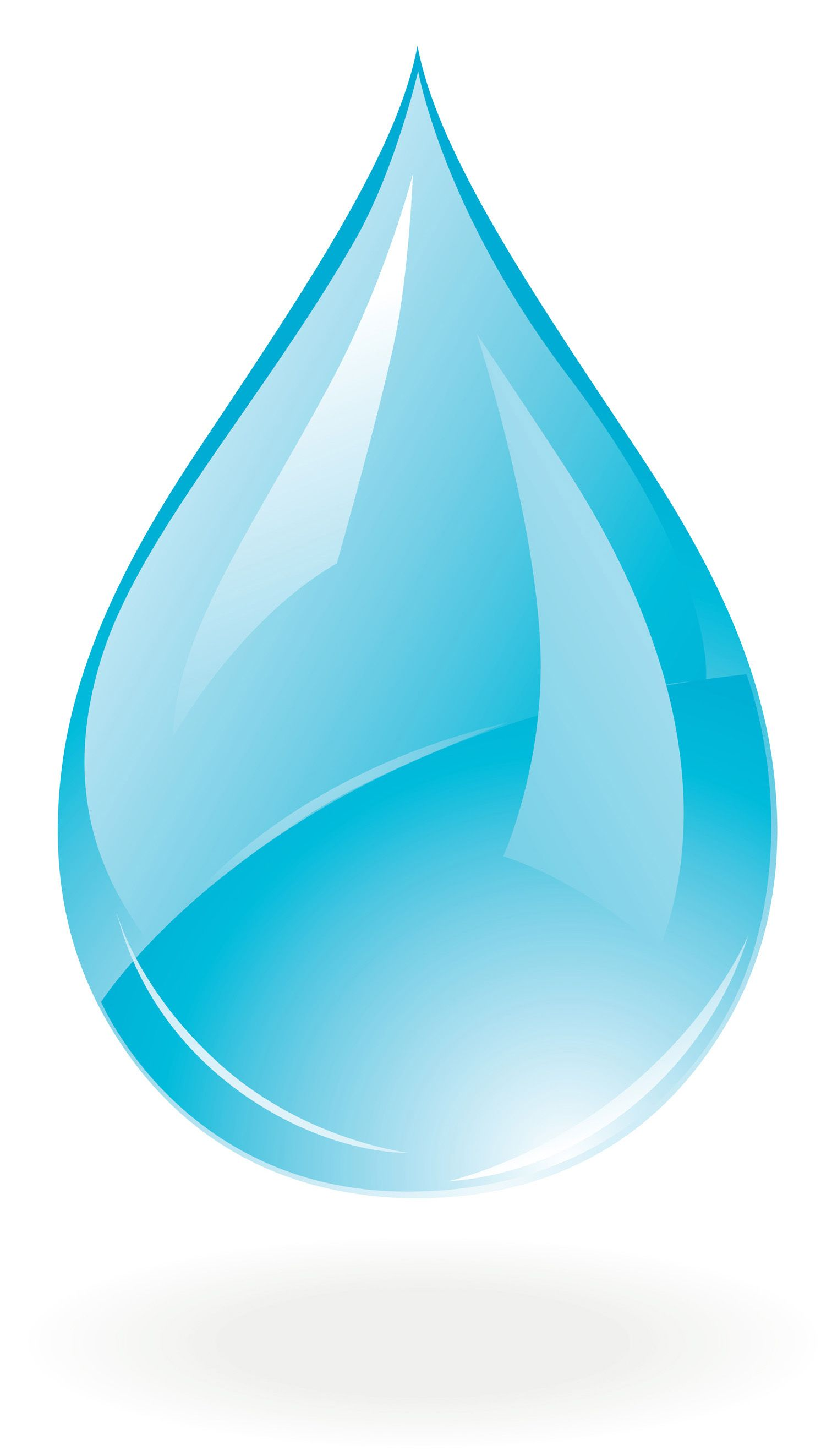 hight resolution of water drop psd clipart