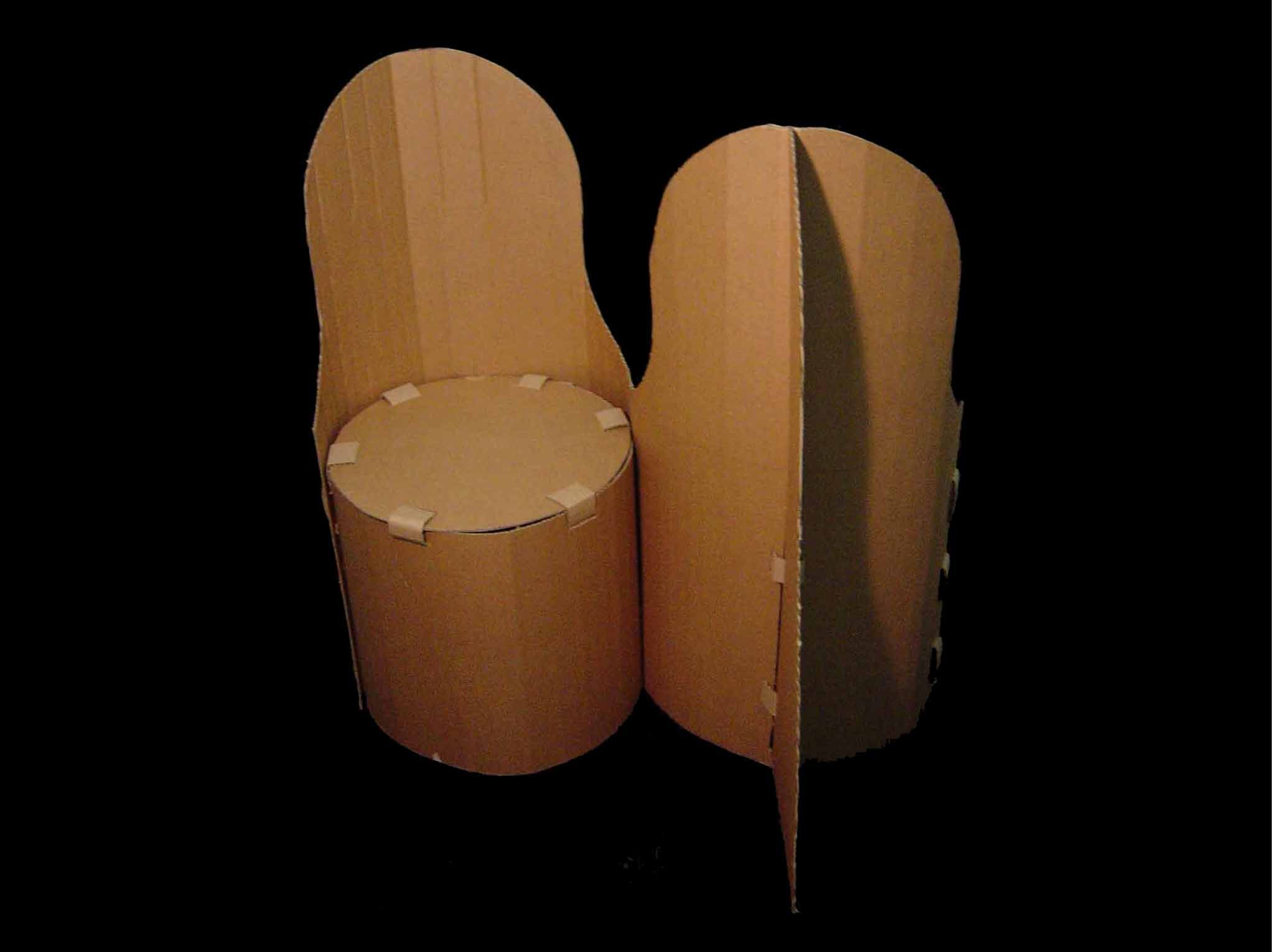 cool and easy design | Cardboard Chairs | Pinterest | Cardboard ...