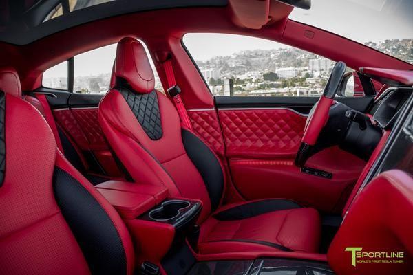 Red Multi-Coat Custom Tesla Model S 2.0 - Bentley Red ...