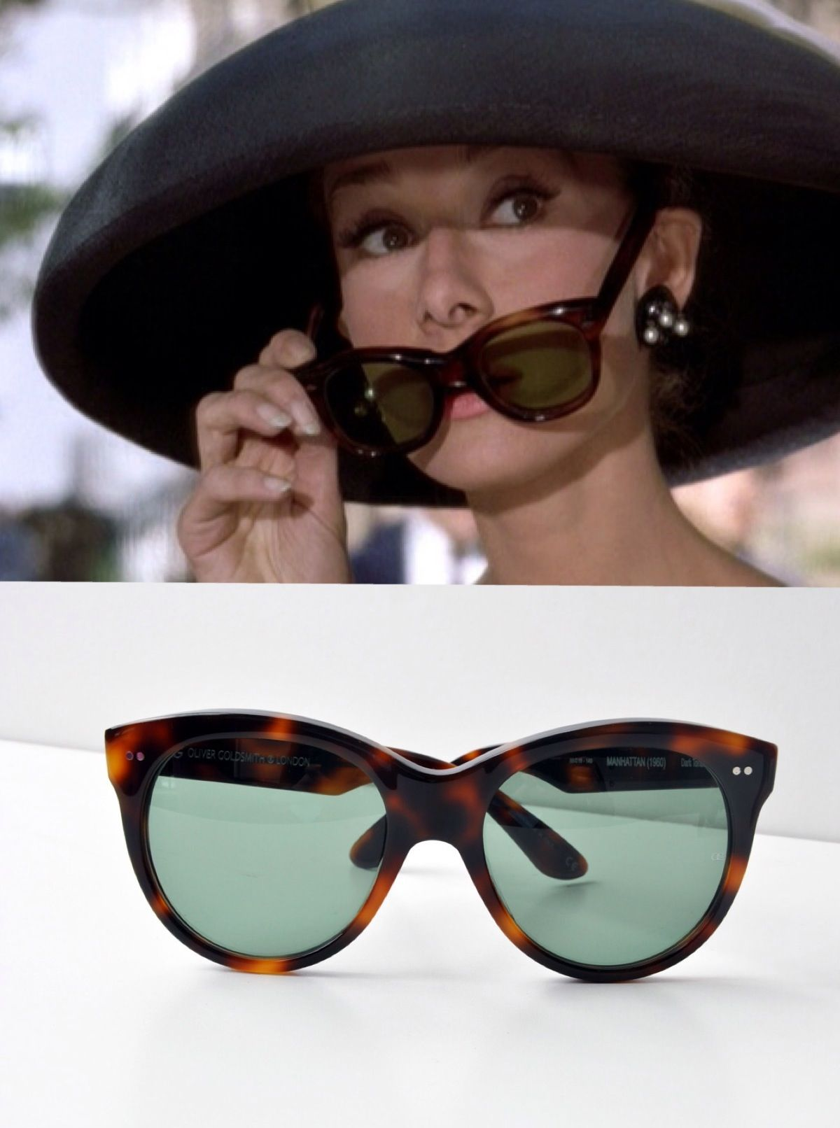 15f67bd596c Oliver Goldsmith  Manhattan  Sunglasses. Audrey Hepburn Breakfast at  Tiffany s replicas!