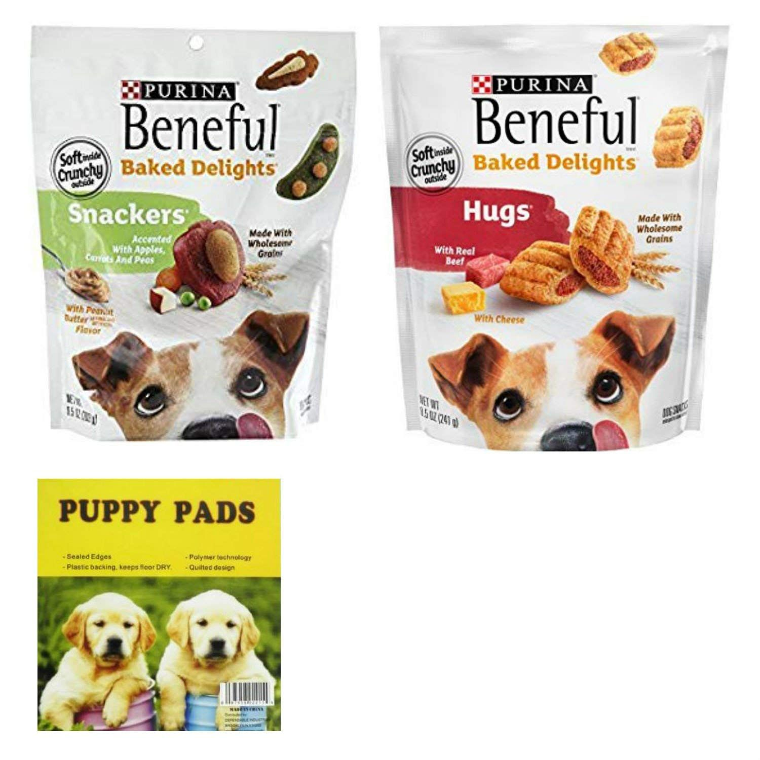 Purina Beneful Baked Delights Hugs With Real Beef And Snackers