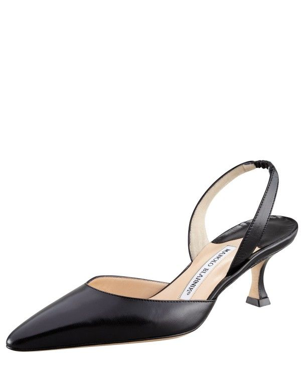 74c77ef31 Manolo Blahnik - Kidskin Low-Heel Halter | Manolo Blahnik Shoes ...
