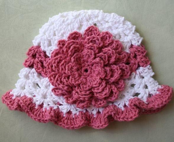 Crochet Flower Patterns Crochet Baby Hats With Flowers