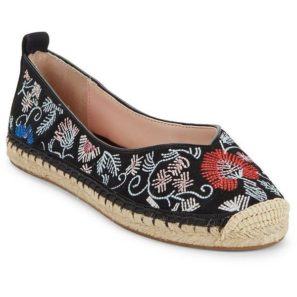abb7d661f17a8 Avec Les Filles Gisella Embroidered Suede Espadrilles ($67) ❤ liked ...