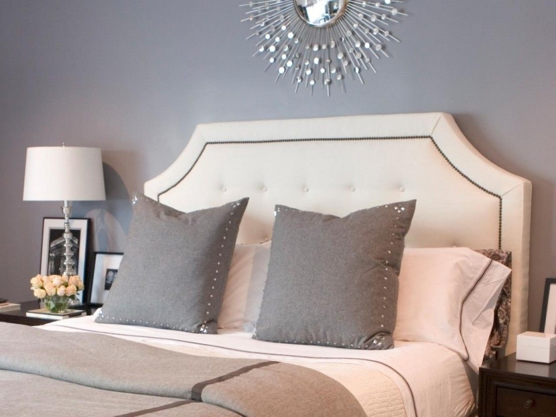 awesome grey wall paint scheme bedroom ideas featuring twin size  - awesome grey wall paint scheme bedroom ideas featuring twin size beds withbeige tufted leatherette belgrave