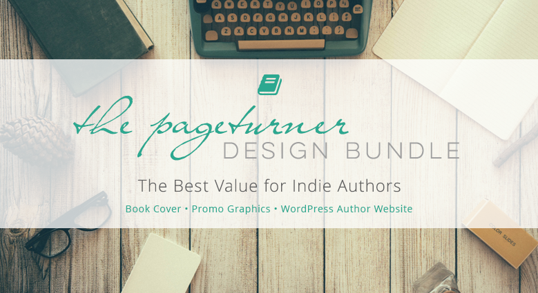 The Pageturner. A #design bundle for indie authors and self publishers. Everything you need to pimp your #book: awesome cover, author website, promo graphics. #bookcover #indieauthors #coverdesign