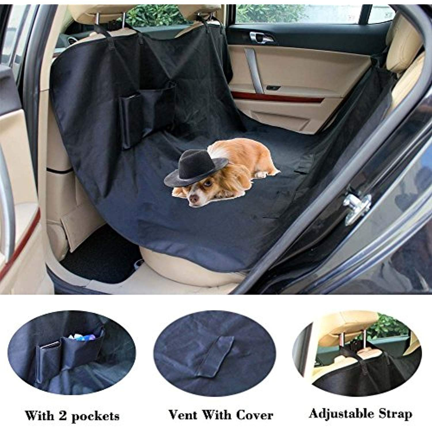 Suv Truck Dog Seat Covers Pet Hammock Waterproof Heavy Duty