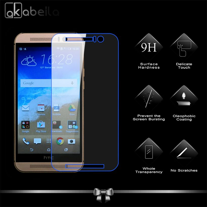 Tempered Glass Film for HTC One M9 HTC One Hima M9 Prime Camera M9u M9x M9s 5.0inch Cover Case Surface Hardness Screen Protec… | Htc one m9 ...
