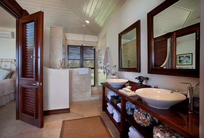 Luxury Bathroom In Serene Caribbean Rental Villa