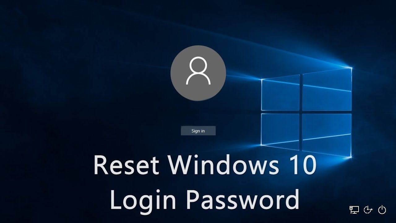 How To Reset Your Forgotten Windows 10 Password Windows 10 Computer Password Windows