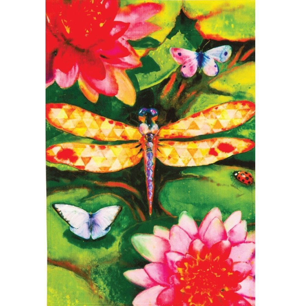 Big Dragonfly House Flag | Products | Pinterest | Dragonflies, House ...