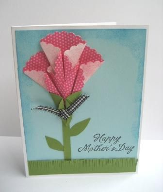 Mothers day card origami flower flower cards and papercraft mothers day card flower mightylinksfo