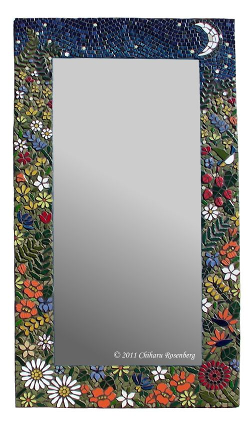 Mosaic Mirror Wall Decor the night garden mosaic mirror … | pinteres…