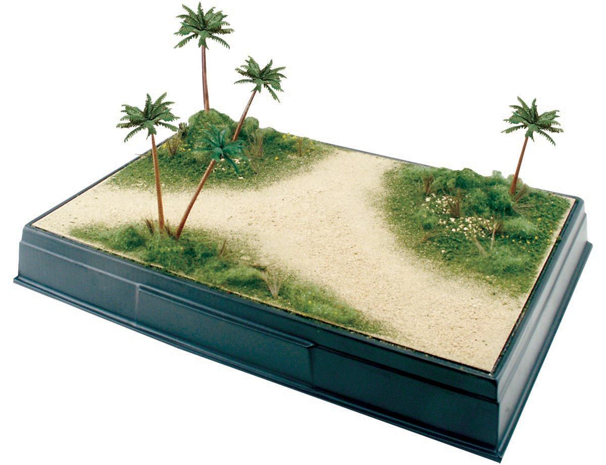 Desert Oasis Diorama Kit Create a flat, sandy surface for your