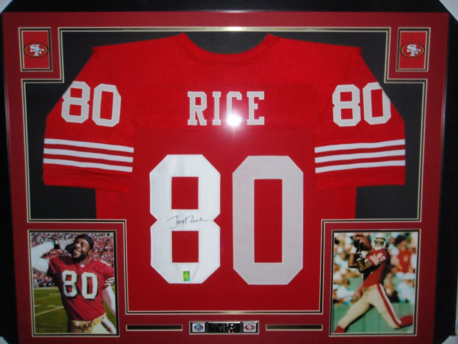 new concept f6500 732fc Jerry Rice, Autographed Framed Jersey San Francisco, 49Ers ...