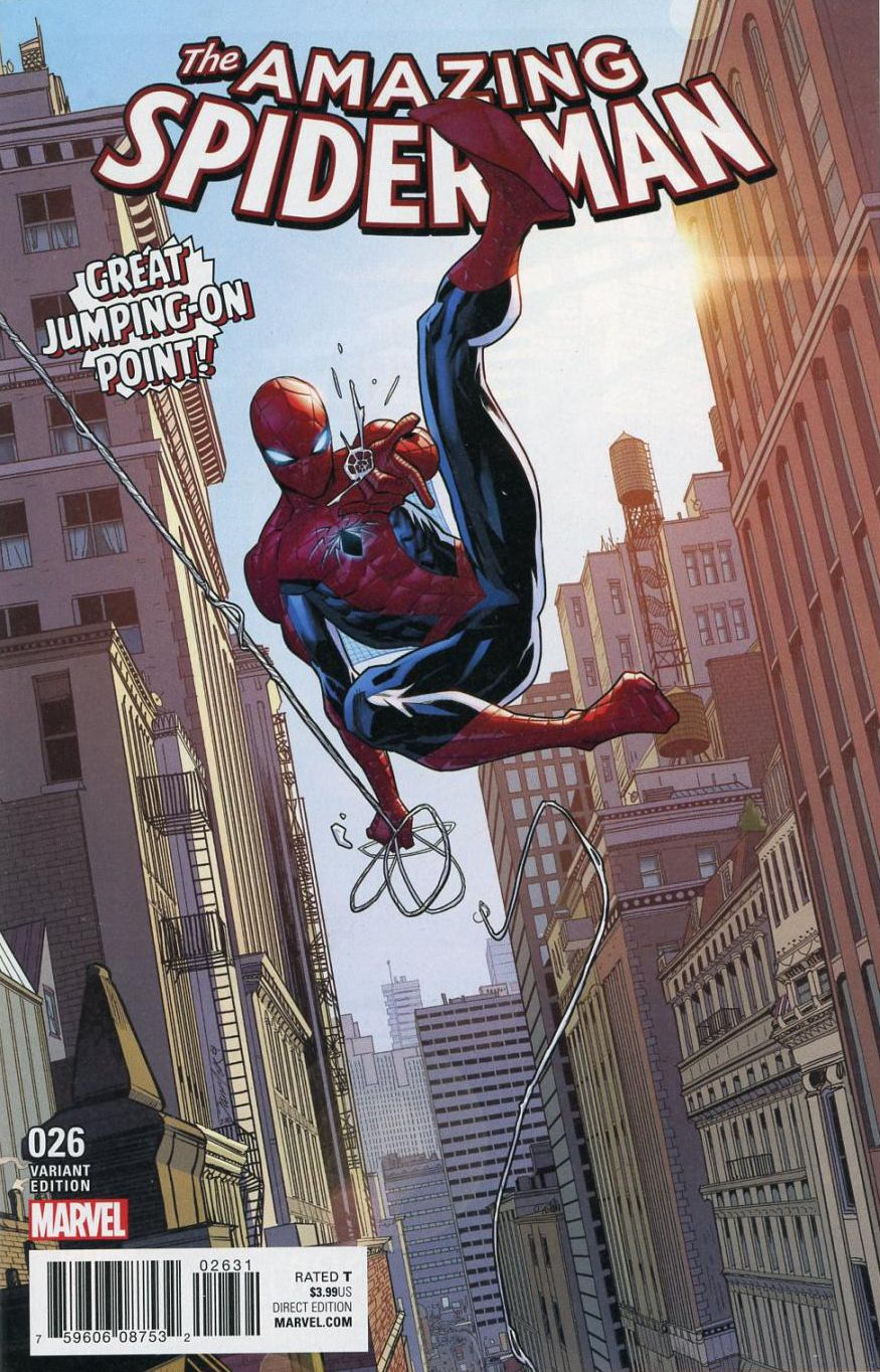 The Amazing Spider Man 26 2017 Walmart Exclusive Variant Cover By