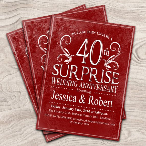 40th Wedding Anniversary Gift Ideas For Parents Australia : ... anniversary ideas anniversary suprise anniversary invitation ideas