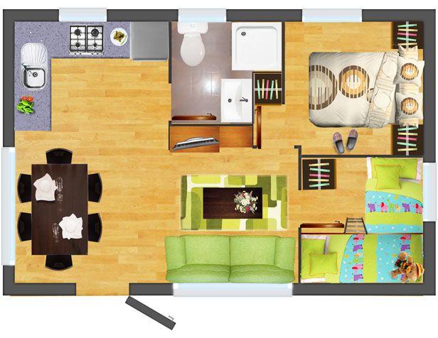 Casa prefabricada ducal casa pinterest casa for Comedor 30 metros cuadrados