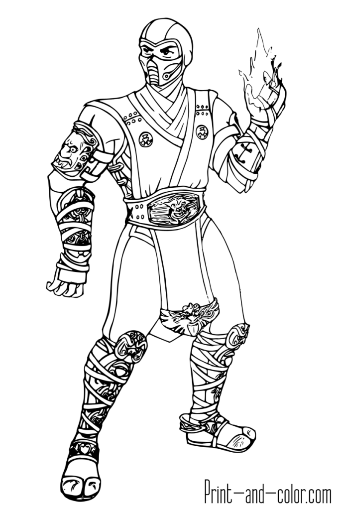 Mortal Kombat Coloring Page Sub Zero Mortal Kombat Amigurumi Navideno Dibujos