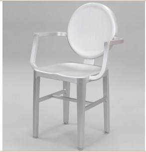 Aluminum Ghost Chair-Arms