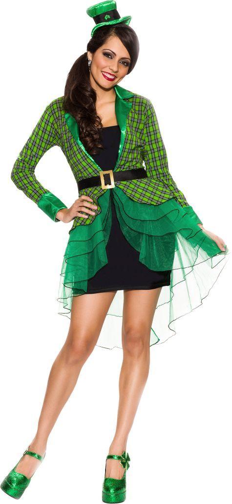 Adult Lucky Lass Leprechaun Costume Party City Halloween 2015