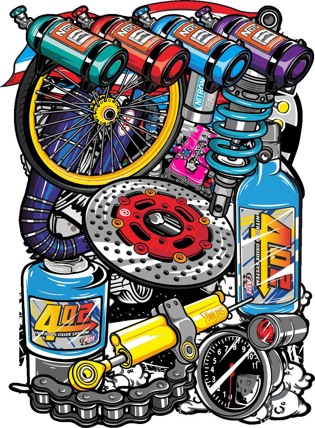 click monthai Seni jalanan, Desain stiker, Seni 3d