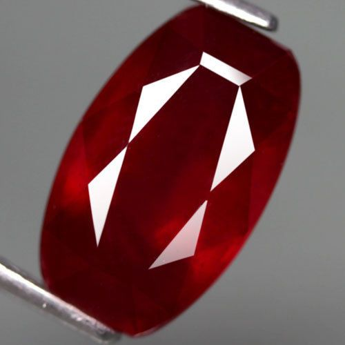 6.35CT.GORGEOUS! FANCY FACET TOP BLOOD RED NATURAL RUBY MADAGASCAR #Gemnatural