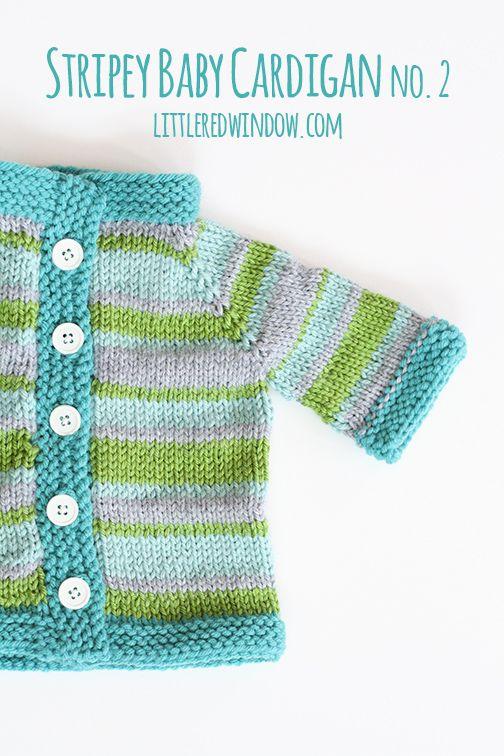 Stripey Baby Cardigan Sweater    littleredwindow.com