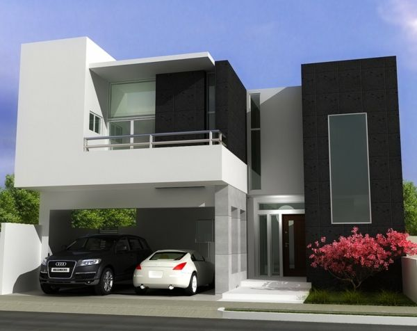 Grau-weiß Ist Modern An Der Fassade. #kolorat #haus #fassade ... Moderner Landhausstil Einrichtung Fassade