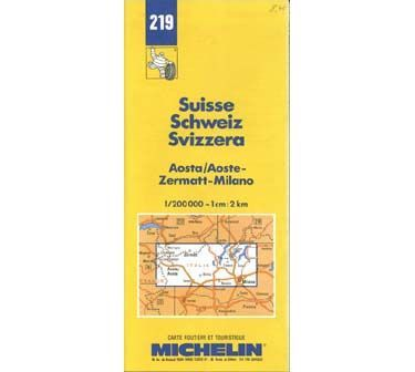 Switzerland: Aosta/Zermatt/Milano Map