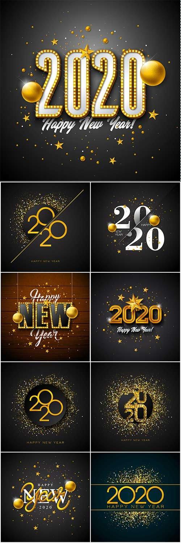 2020 Happy New Year Illustration Free Psd Templates Tutoriel